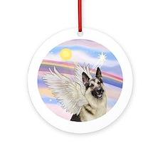 German Shepherd Angel Ornament (Round)