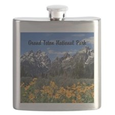 Personalizable Grand Tetons Souvenir Flask