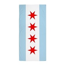 Chicago Flag Beach Towel