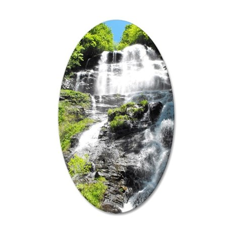 Amicalola Falls in North Geo 35x21 Oval Wall Decal