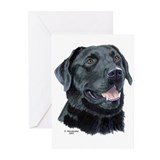 Tejas Black Labrador Greeting Cards (6)