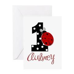 1 Ladybug AUBREY - Custom Greeting Cards