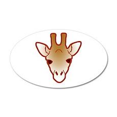 giraffe head 04 35x21 Oval Wall Decal
