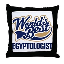Egyptologist (Worlds Best) Throw Pillow