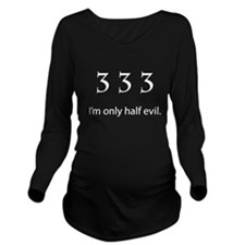 Half Evil for dark shirts Long Sleeve Maternity T-