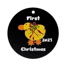2013 Yellow Duck Ornament (Round)