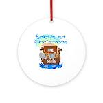 Noah's Ark Baby's 1st Christmas Ornament (round)