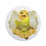 Angel Baby Christmas Ornament (round)