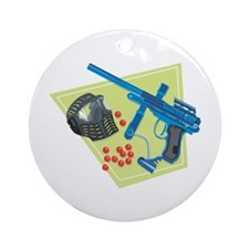Paintball Equipment Graphic Ornament (Round)