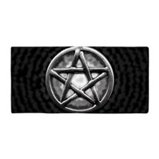 Silver Pentacle Beach Towel