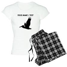Custom Black Pelican Silhouette pajamas