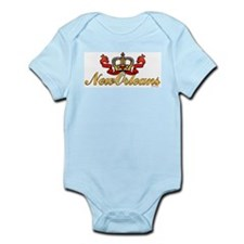 New Orleans Crowned Infant Bodysuit