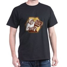 Beekeeper Apiarist Holding Bee Brood Retro T-Shirt