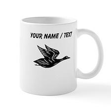 Custom Black Flying Duck Silhouette Mugs