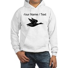 Custom Black Flying Duck Silhouette Jumper Hoody