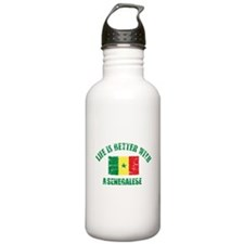 Life is better with a senegalese Water Bottle
