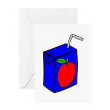 Apple Juice Box Greeting Cards