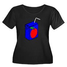 Apple Juice Box Plus Size T-Shirt