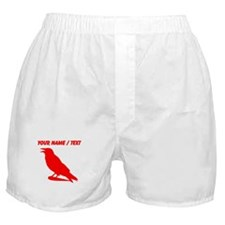 Custom Red Crow Silhouette Boxer Shorts