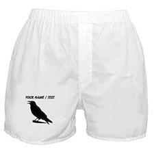 Custom Black Crow Silhouette Boxer Shorts