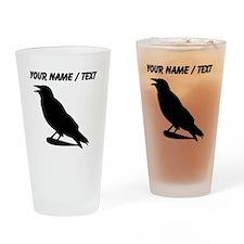 Custom Black Crow Silhouette Drinking Glass