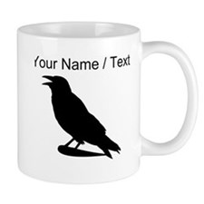 Custom Black Crow Silhouette Mugs