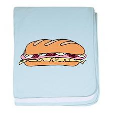 Submarine Sandwich baby blanket