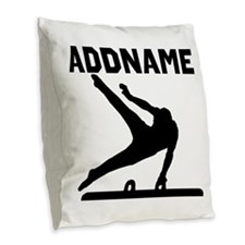 TERRIFIC GYMNAST Burlap Throw Pillow