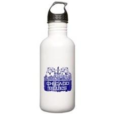 Chicago BLUES-4 Water Bottle