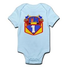 Superhero 1st Birthday Infant Bodysuit