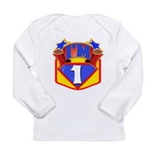 Superhero 1st Birthday Long Sleeve Infant T-Shirt