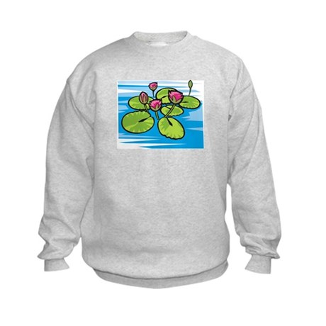 Lily Pad Pond Kids Sweatshirt