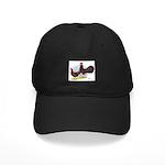 Red Leghorn Chickens Black Cap