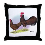 Red Leghorn Chickens Throw Pillow