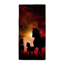 Horses, Beach Towel