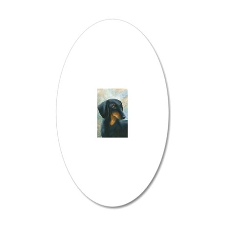 Dog 90 20x12 Oval Wall Decal