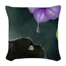 Cat 514 Woven Throw Pillow