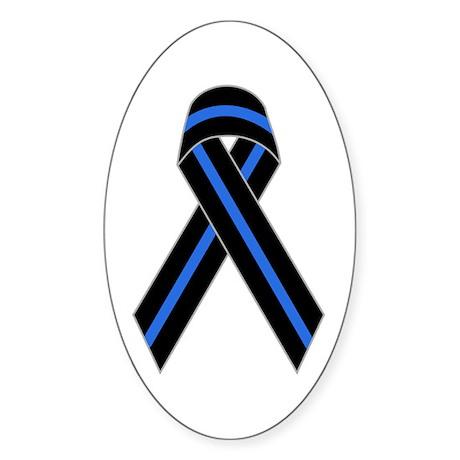 Memorial Ribbon Oval Sticker