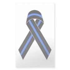Memorial Ribbon Rectangle Decal