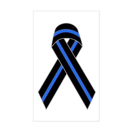 Memorial Ribbon Rectangle Sticker