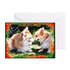 Happy Holiday Corgis Greeting Card