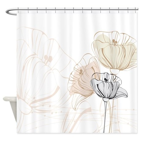Delicate Poppies Shower Curtain