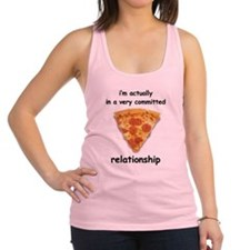 Im actually in a relationship Racerback Tank Top