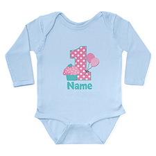 1st Birthday Cupcake Pink Blue Body Suit