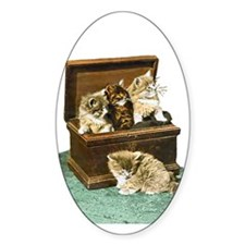 4 Victorian Kittens Decal