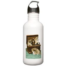 4 Victorian Kittens Water Bottle