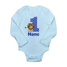 1st Birthday Lion Blue Body Suit