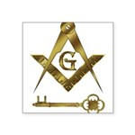 International Masons Rectangle Sticker