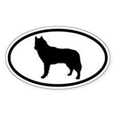 Husky Dog Oval Decal