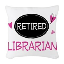 Retired Librarian Woven Throw Pillow